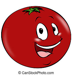 Cartoon Tomato - A happy cartoon tomato. A healthy addition...