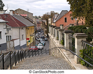 Old Town - the old town of Uzhgorod (Transcarpathia,...