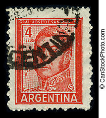 Postage stamp. - ARGENTINA-CIRCA 1980: A stamp printed in...