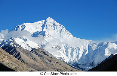Mount Everest - Base camp at the North Face in Tibet