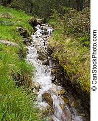 美麗, 山, 很少, 安道爾, 放松, 河, 瀑布, 地方, 打掃, 新鮮, 帶, 岩石
