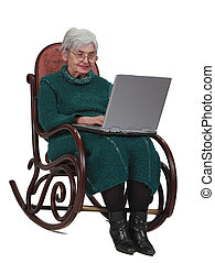 Technology is for everyone - Image of a senior woman using a...