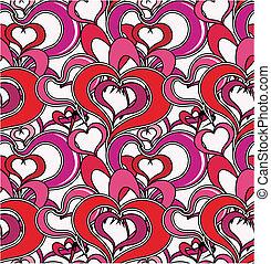 love hearts pattern