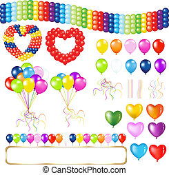 Balloons - Collection Of Balloons Of Different Form,...