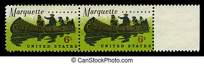 Postage stamp - USA - CIRCA 1980: Two stamp dedicated to the...