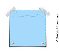 Blue Paper Note Vector