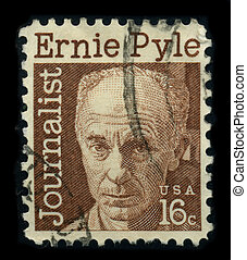 Postage stamp - USA - CIRCA 1970: A stamp shows image...