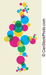 Multicolored bubbles background