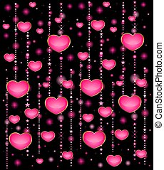 background with beautiful hearts for the day of sainted...