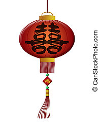 Chinese Double Happiness Wedding Lantern - Chinese Double...