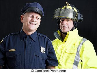 To Serve and Protect - Policeman and fireman both...