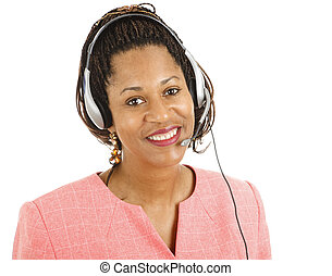 Beautiful Customer Service Rep - Beautiful African-american...