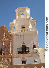 San Xavier del Bac - Detail of Spanish mission San Xavier...