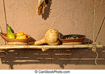 Squash, beans, and corn - Traditional southwest American...