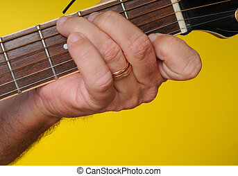 G7 Guitar Chord - Finger position for a G7 guitar chord