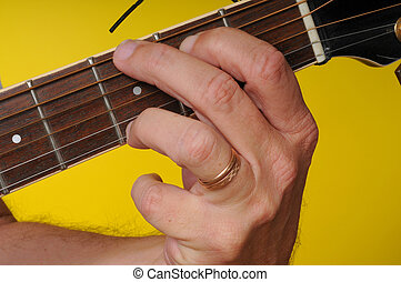 G Major guitar chord - Finger position for a G Major guitar...