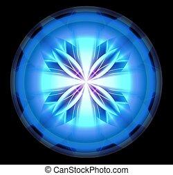 Blue Scifi Tech Orb - Blue glowing scifi orb