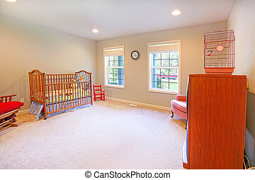 Nursery room - Nirsery with cherry wood furniture