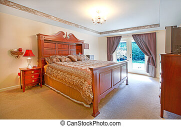 Master bedroom with large bed