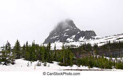 Logan pass - Scenic landscape at Logan pass in Montana