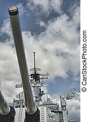 Battleship Missouri Guns - 16 inch guns of the USS Missouri...
