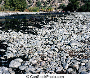 Low Salt River - Salt river in Arizona with water almost...