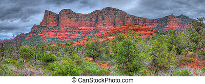 Red Rock Panorama - Storm forming over red rock country...