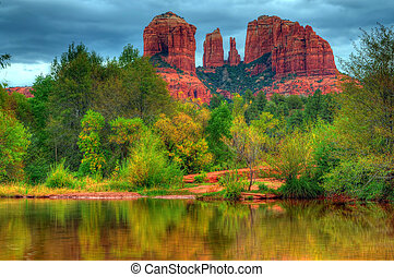 Cathedral Rock - Storm over cathedral rock Sedona Arizona