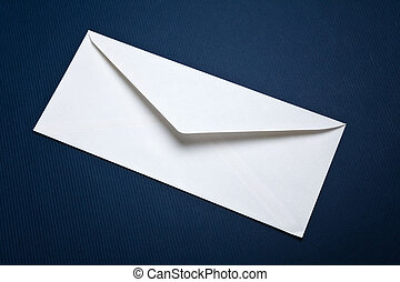 White Envelope with blue background