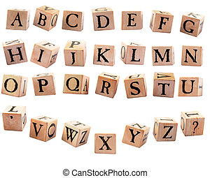 Alphabet Blocks #2 - A complete set of rustic alphabet...