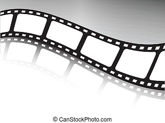 Waved film strip vector illustration