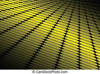Shiny yellow vector techno floor