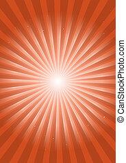 Retro orange space flare illustrati