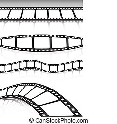 Film strip various background colle