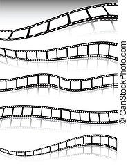 Film strip vector background collection