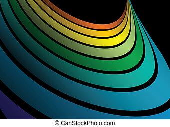 Vector rainbow arc