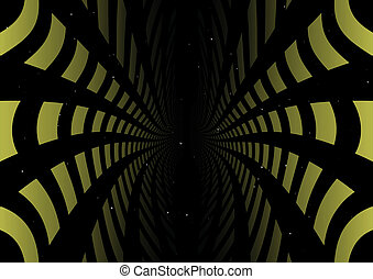 Green abstract tunnel