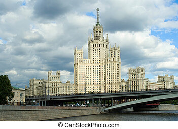 Stalinist high-rise building on Kotelnicheskaya embankment,...