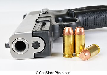 40 caliber pistol with ammunition
