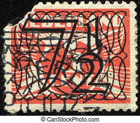 7 12 cent - NETHERLANDS - CIRCA 1946: 1 cent Netherlands...