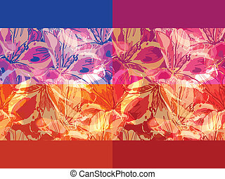 vector seamless grunge backgrounds with flowers, clipping...