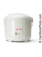 Electric rice cooker isolated on white background
