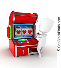 Love Gamble - Illustration of a Man Getting a Combination of...