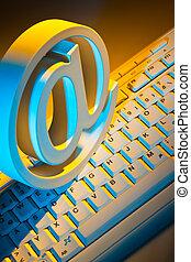 電子メール, キーボード, コンピュータ, 印