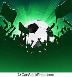 Football fans crowd. EPS 8 vector file