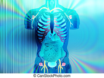 X-ray - Abstract illustration of X-ray vision