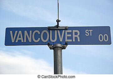 Vancouver street road sign