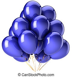 Blue balloons party decoration