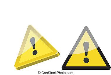 triangular warning sign