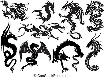 Dragons  - Dragons. Vector illustration for you design